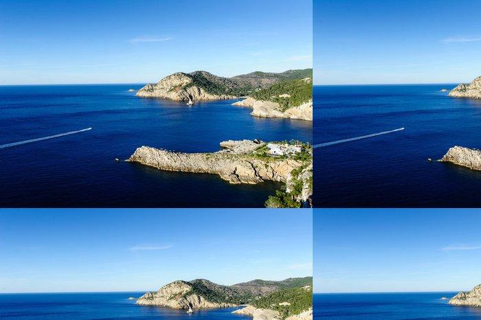 Vinylová Tapeta Evissa ostrov. Paradise Bay přímořská krajina. - Evropa