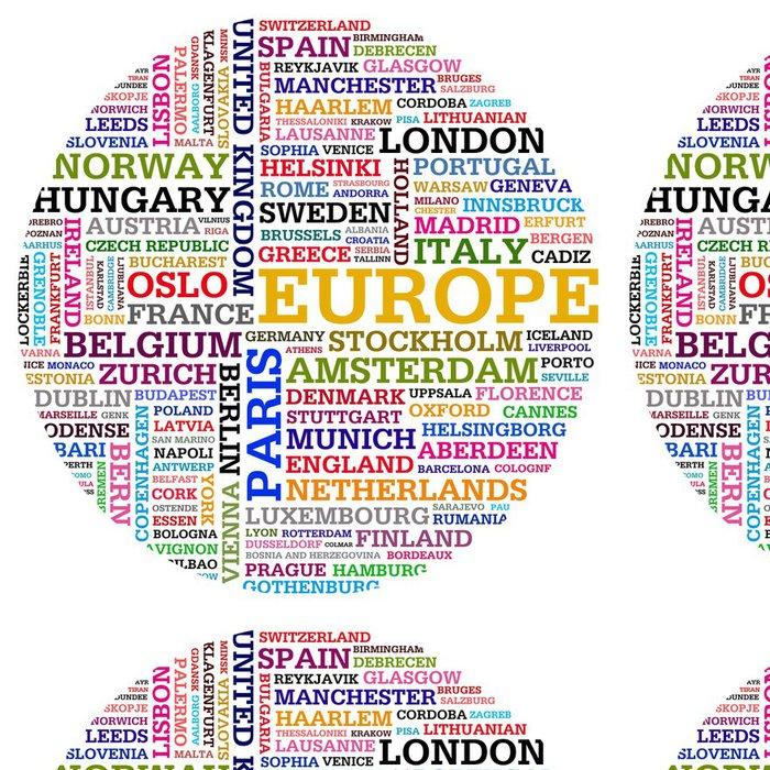 Tapeta Pixerstick Evropa a země měst - Evropská města