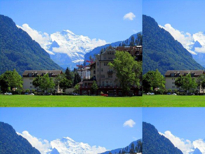 Tapeta Pixerstick Evropa Alpy, hory v létě - Evropa