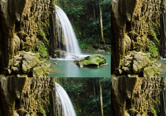 Tapeta Pixerstick Exotické Deep Forest Vodopád v Thajsku - Voda