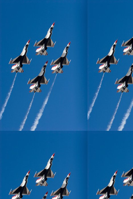 Vinylová Tapeta F-16 Thunderbird trysky létání ve formaci - Témata