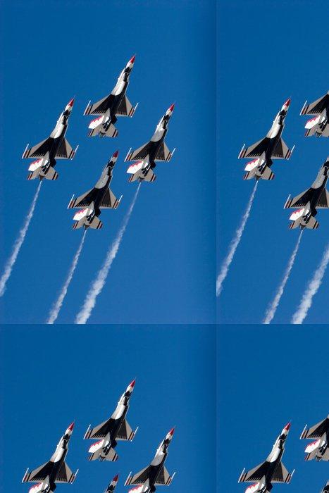 Tapeta Pixerstick F-16 Thunderbird trysky létání ve formaci - Témata