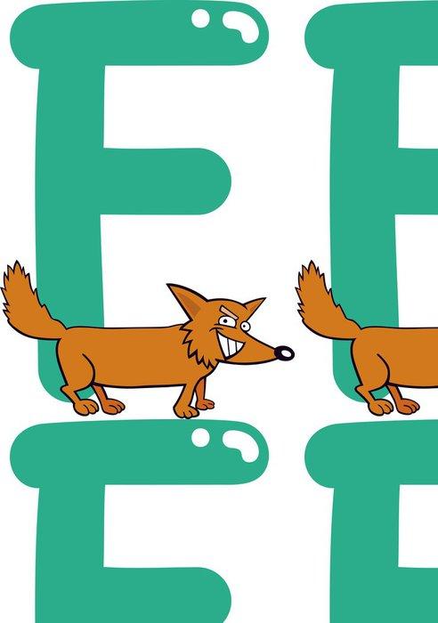 Tapeta Pixerstick F pro lišky - Nálepka na stěny