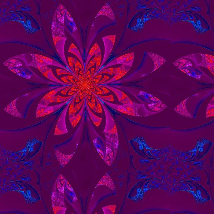 Vinylová Tapeta Fabulous symetrický květinový vzor. Počítačem generované grafiky - Pozadí