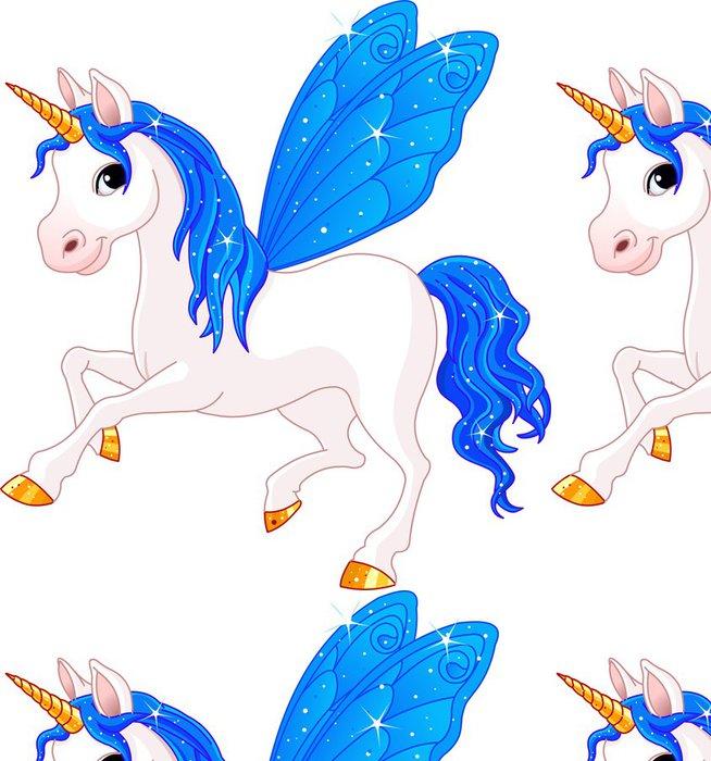 Tapeta Pixerstick Fairy Tail Indigo koně - Nálepka na stěny