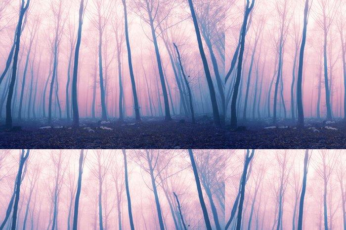 Tapeta Pixerstick Fantasy color foggy fairytale forest - Lesy