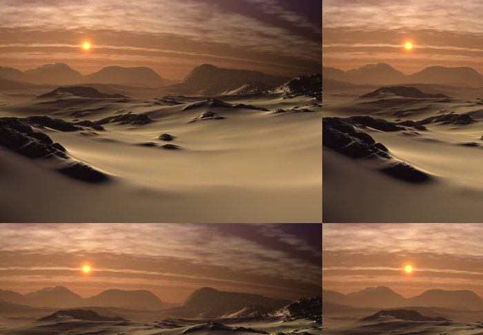 Tapeta Pixerstick Fantasy krajina - Desert - Pouště