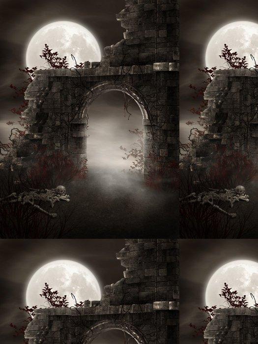 Tapeta Pixerstick Fantom zřícenina skeletu - Ezoterika