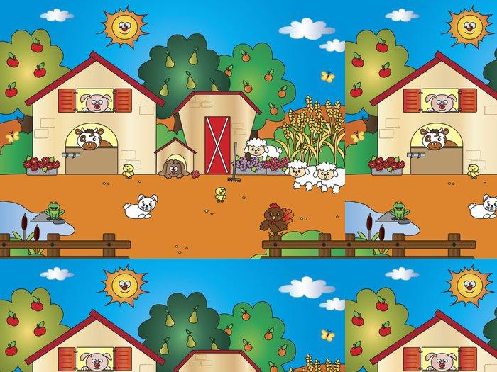 Tapeta Pixerstick Farm cartoon - Pro předškoláka