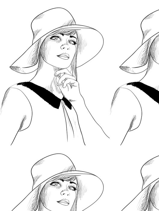 Tapeta Pixerstick Fashion sketch - Umění a tvorba