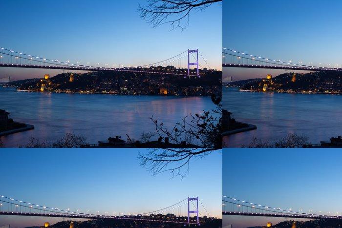 Tapeta Pixerstick Fatih Sultan Mehmet most v Istanbulu Turecko - Prázdniny