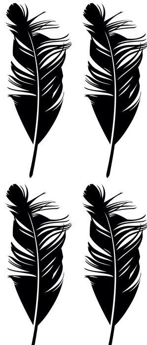 Tapeta Pixerstick Feather. Vektorové ilustrace - Umění a tvorba