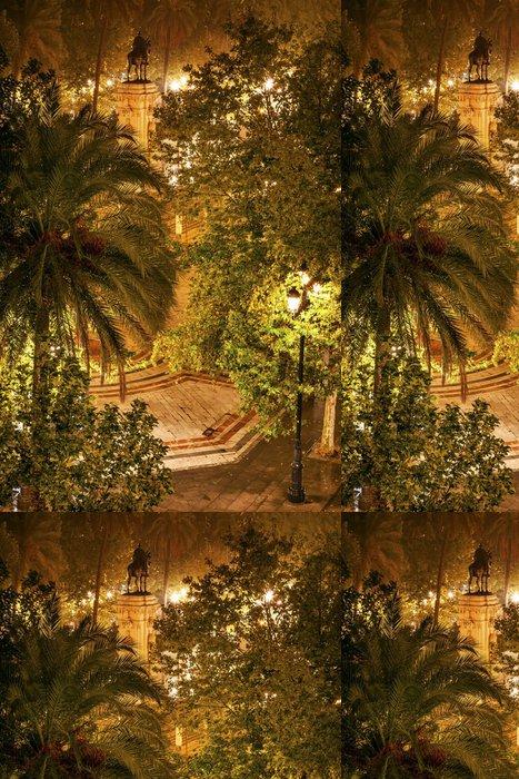 Tapeta Pixerstick Ferdinand Socha Plaza Nueva Sevilla, Španělsko - Evropa