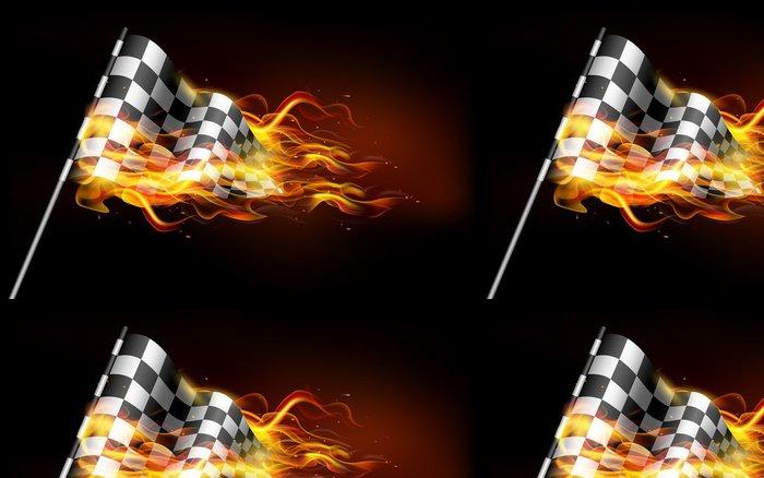 Tapeta Pixerstick Fiery Race Flag - Úspěch
