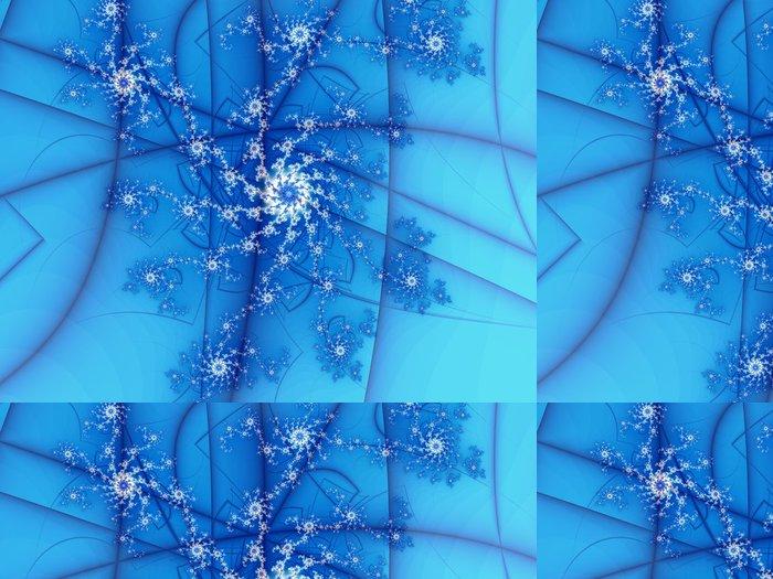 Tapeta Pixerstick Fiori bianchi e Azzurri - Pozadí