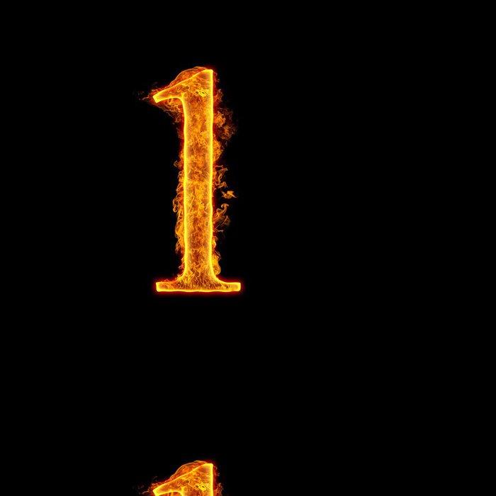 Vinylová Tapeta Fire abeceda číslo 1 jeden - Struktury