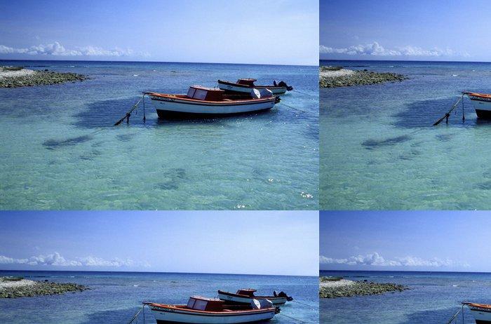 Tapeta Pixerstick Fischerboot nahe dítě beach, aruba - Prázdniny