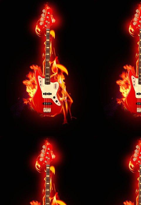 Tapeta Pixerstick Flaming Guitar - Témata