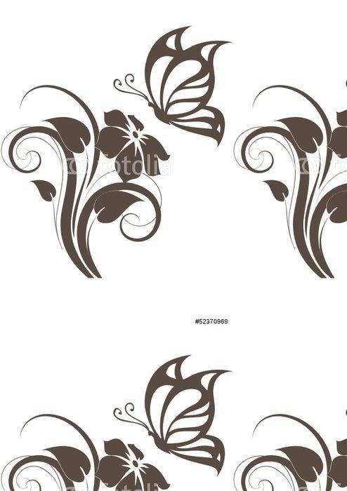 Tapeta Pixerstick Floral konstrukční prvek s motýl - Národní svátky