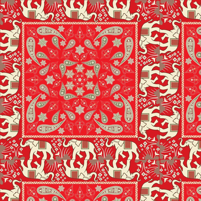 Tapeta Pixerstick Floral Scarf design - Móda