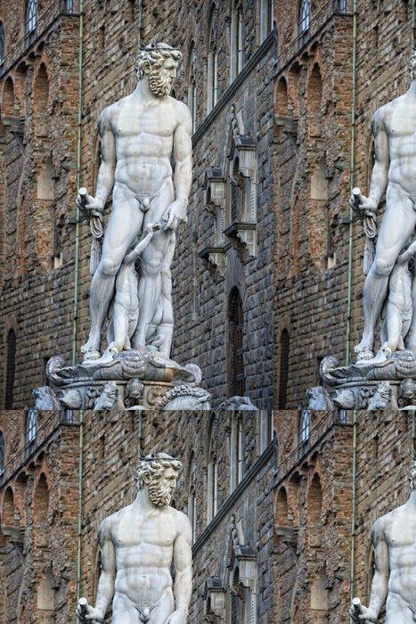 Tapeta Pixerstick Florence Piazza della Signoria Socha - Památky