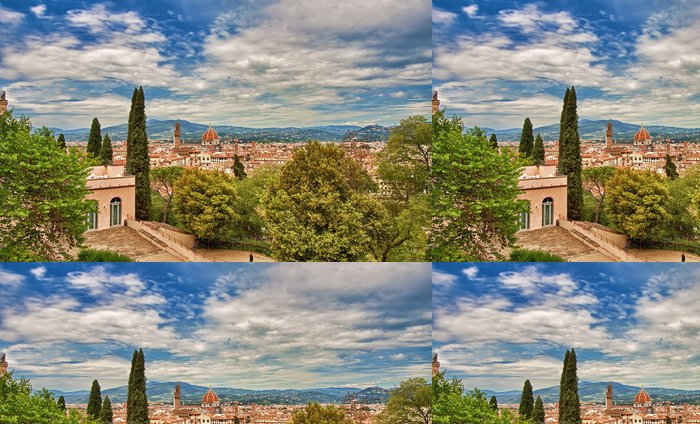 Tapeta Pixerstick Florence pohled z Bardini zahrady - Témata