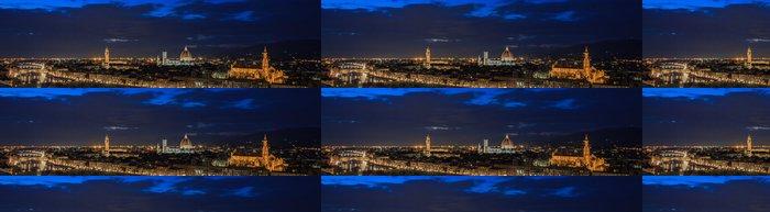 Tapeta Pixerstick Florencia de noche - Město