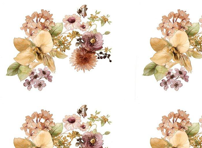 Tapeta Pixerstick Flower design akvarel - Umění a tvorba