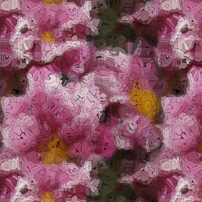 Tapeta Pixerstick Flower graffiti mozaika generované textury - Pozadí