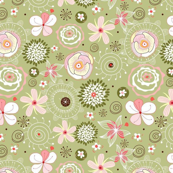 Tapeta Pixerstick Flower seamless pattern - Styly