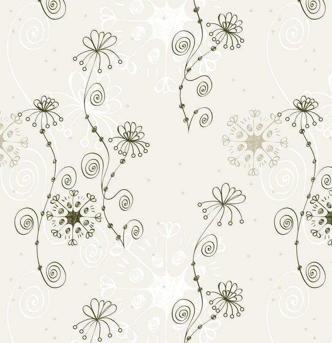 Tapeta Pixerstick Flowers fantasy. Cute květinové bezproblémové vzorek. - Květiny