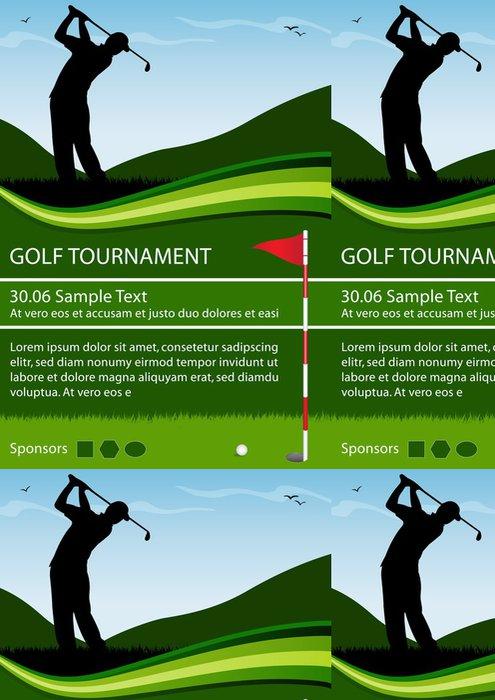 Tapeta Pixerstick Flyer Golfový turnaj - Individuální sporty