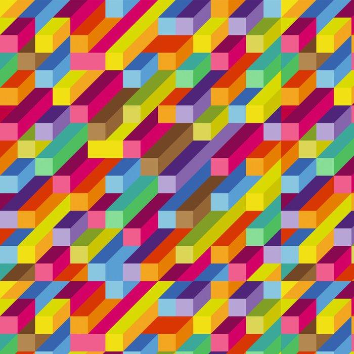 Tapeta Pixerstick Fond umění kostka abstrait en couleur - Témata