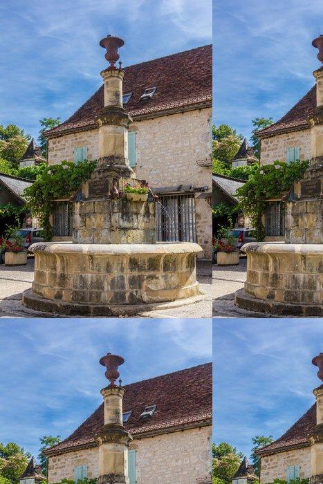 Tapeta Pixerstick Fontaine d'Autoire, nápadník obec de France - Prázdniny