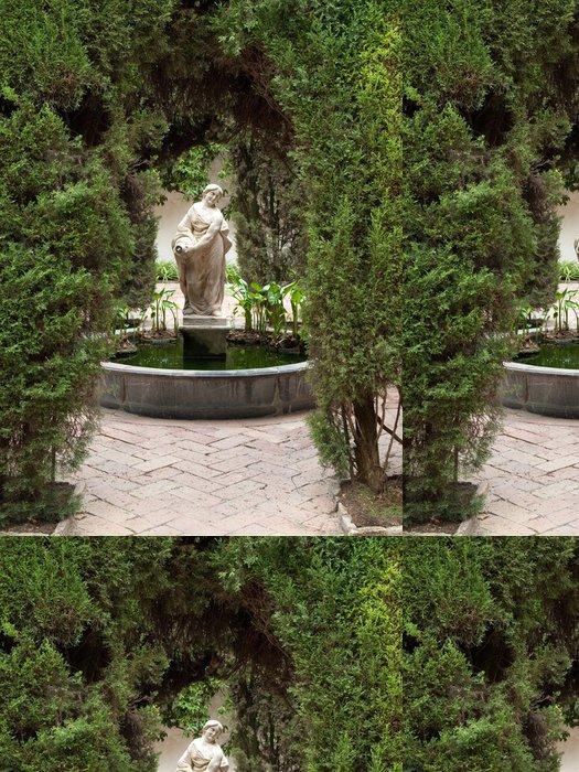 Vinylová Tapeta Fontaine Entre les Arbres dans Les Jardins - Evropa