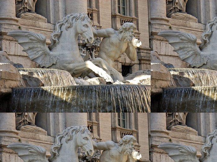 Tapeta Pixerstick Fontána di Trevi detail 2 - Imaginární zvířata