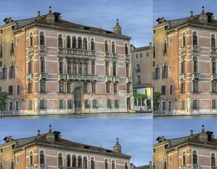 Tapeta Pixerstick Fontána Palazzo Rezzonico - Evropská města