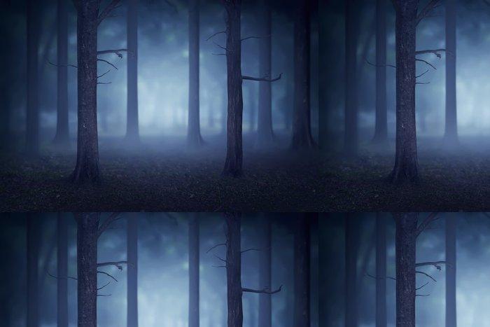 Tapeta Pixerstick Forest se spoustou stromů a mlhy - Krajiny