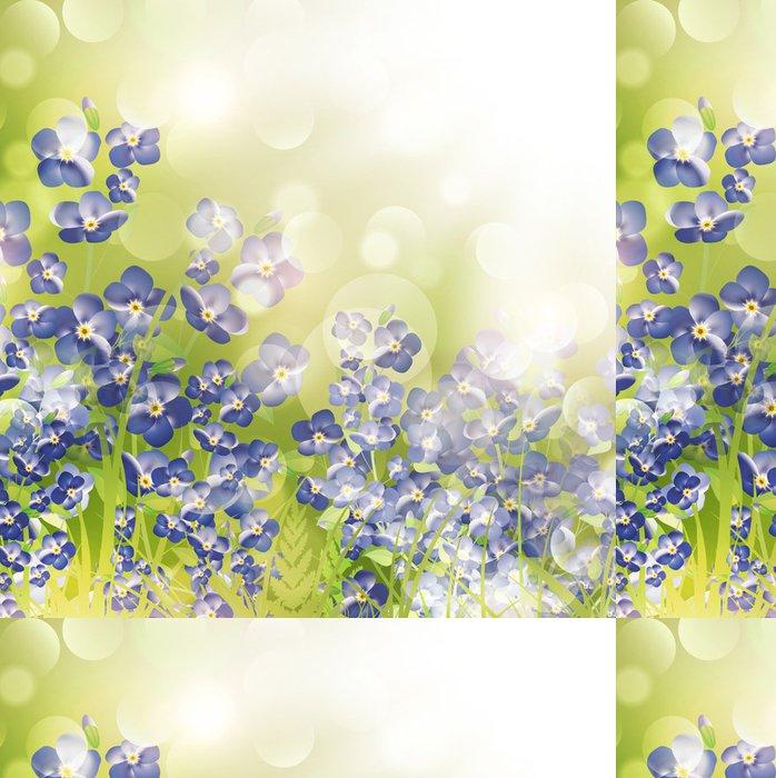 Tapeta Pixerstick Forget Me Not Over Flowers světlé pozadí - Prázdniny