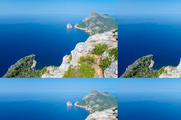 Tapeta Pixerstick Formentor mys - krajina z vrchu věže - Evropa