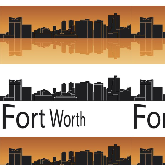 Tapeta Pixerstick Fort Worth panorama - Amerika
