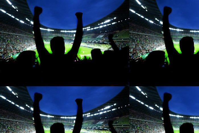 Tapeta Pixerstick Fotbal, fotbalové fanoušky podpořit svůj tým a oslavovat - Týmové sporty