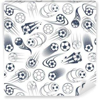 Vinylová Tapeta Fotbal nebo fotbalové míče bezešvé vzor