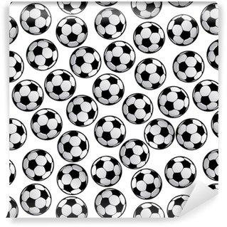Vinylová Tapeta Fotbalové nebo fotbalové míčky bezešvé vzor