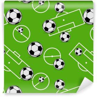 Vinylová Tapeta Fotbalový míč bezešvé vzor. sportovní doplňky ornament. fotbal