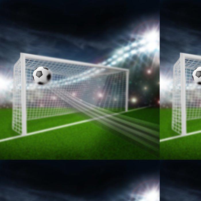 Tapeta Pixerstick Fotbalový míč do branky - Sportovní potřeby
