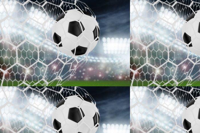 Tapeta Pixerstick Fotbalový míč do branky - Úspěch