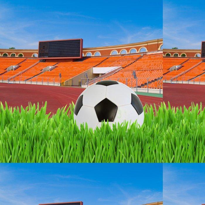 Tapeta Pixerstick Fotbalový míč na stadionu - Prázdniny
