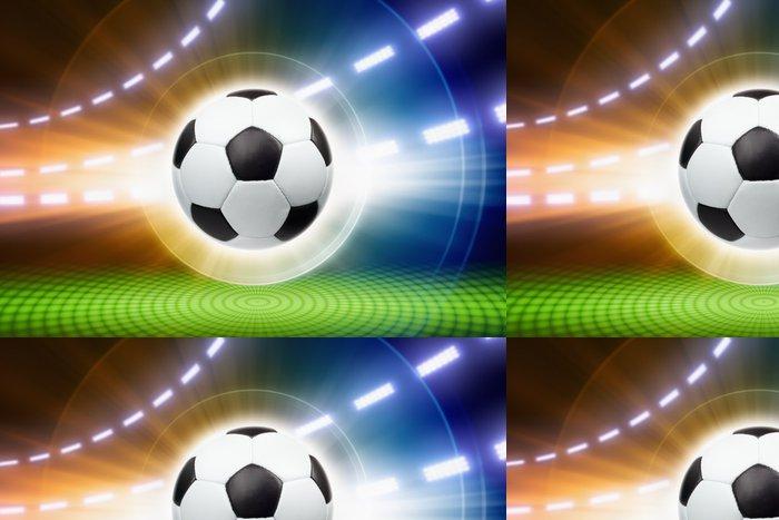Tapeta Pixerstick Fotbalový míč, reflektory - Týmové sporty