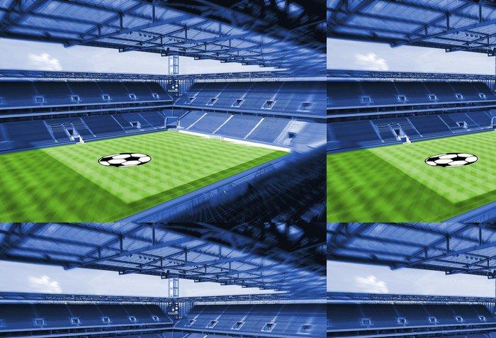 Tapeta Pixerstick Fotbalový stadion se zelenou trávou - Úspěch